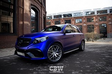 MB GLE 63 AMG - Matte Dark Blue Chrome