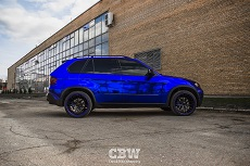 BMW X5 E70 - Dark Blue Chrome
