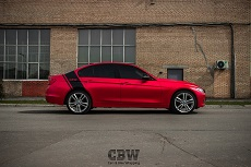 BMW F30 - Crimson Matte Chrome