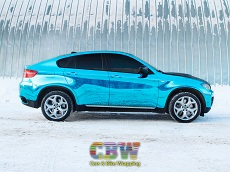 BMW X6 M50D - Laguna Blue Chrome