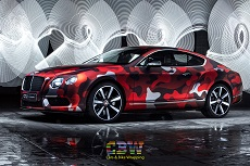 Bentley Continental GT - Matte chrome Camo