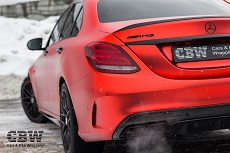 MB C63s AMG Edition One - Red-Orange Matte Chrome