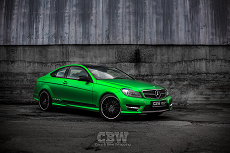 MB C Coupe - Green Matte Metallic