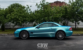 MB SL500 - Blue Green Gloss