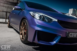 KIA Cerato - Matte Purple Blue Iridescent