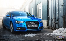 Audi A5 - Blue Chrome