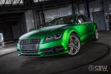 Audi A7 - Green Matte Chrome
